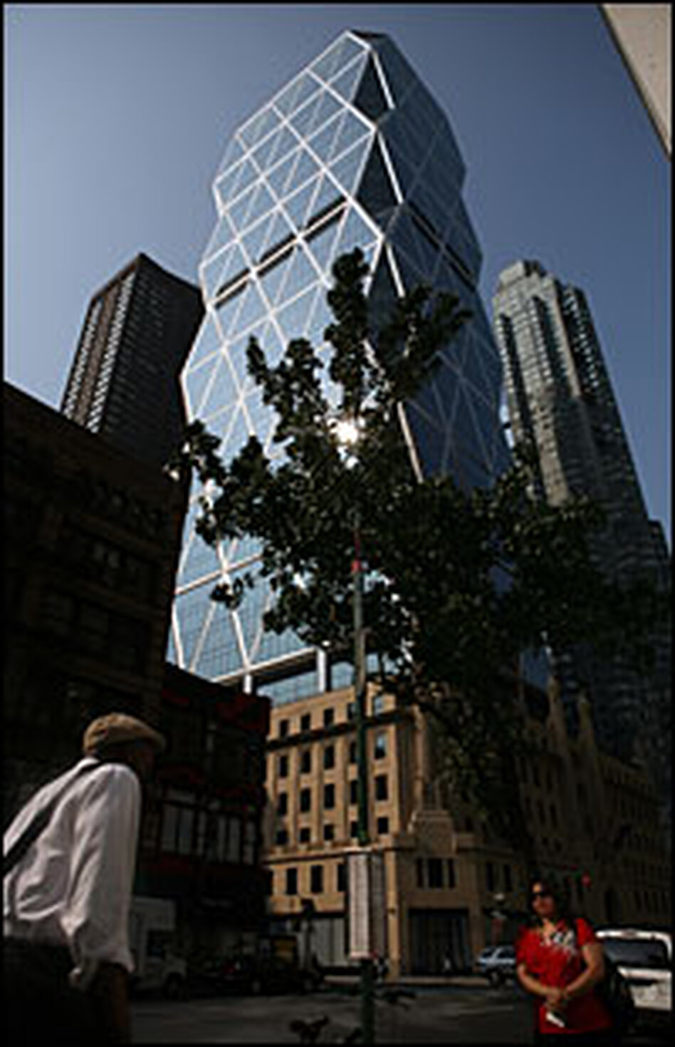 The Hearst Tower in New York City was one of the first skyscrapers in the city to be certified as environmentally friendly by LEED, the Leadership in Energy and Environmental Design.