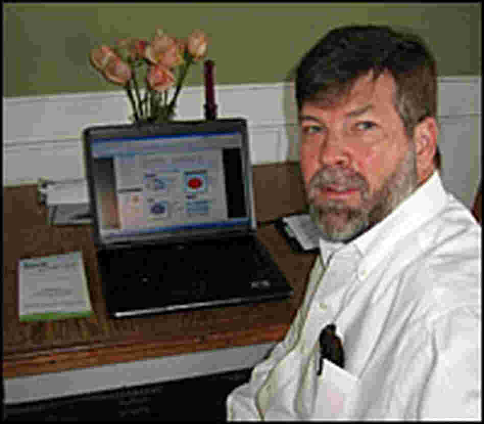 Ray Tuomey with his smart grid monitoring software