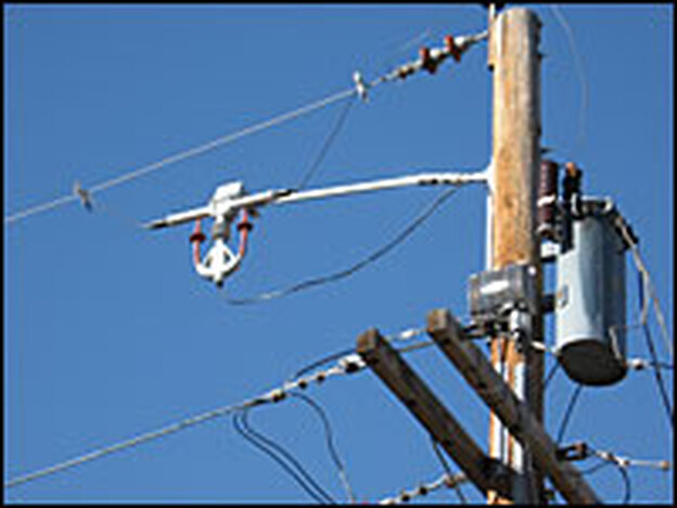 Xcel Energy's SmartGridCity is a $100 million project to create a new kind of electricity grid that can monitor and manage itself. The silver box on the utility pole is about 12 inches by 15 inches, and it's one of several thousand points where data is collected, then sent to computers that run the grid.