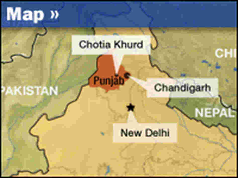 Punjab locator map