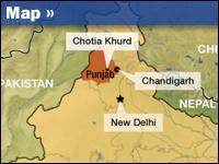 Locator map of India's Punjab region.