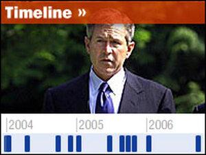Interactive Timeline: Key Moments In Bush's Presidency