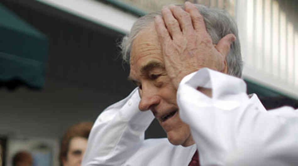 Ron Paul on the campaign trail during the 2008 presidential primaries. photo credit = Eric Thayer/Ge