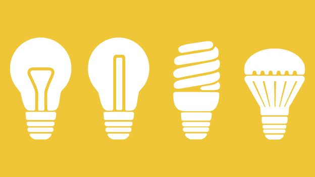 Varied light bulb types