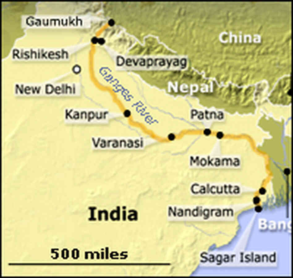 Map of the Ganges River