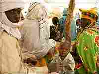 Refugees fleeing the conflict in Darfur at a camp in Chad near the the Sudanese border