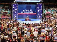 U.S. Senator John McCain (R-AZ) addresses the 2004 Republican National Convention. Credit: Reuters