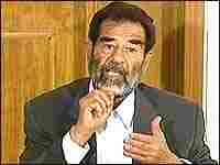 A video grab shows Iraq's deposed dictator Saddam Hussein appearing before an Iraqi tribunal in Iraq