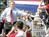 President Bush campaigns in Wisconsin, July 14, 2004.