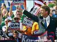 John Edwards campaigns in Dayton, Ohio, July 7, 2004.