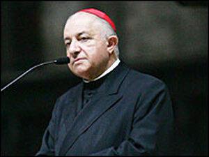 The archbishop of Milan, Dionigi Tettamanzi