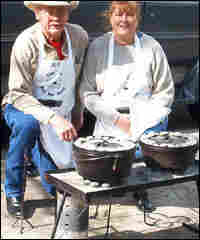 Gale Merriwether and his wife Mary, attend a DOG (Dutch oven gathering) in Corpus Christi