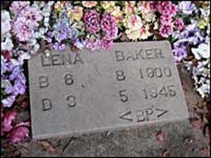 Lena Baker's grave