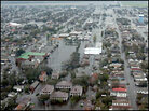 Flooded roadways in New Orleans