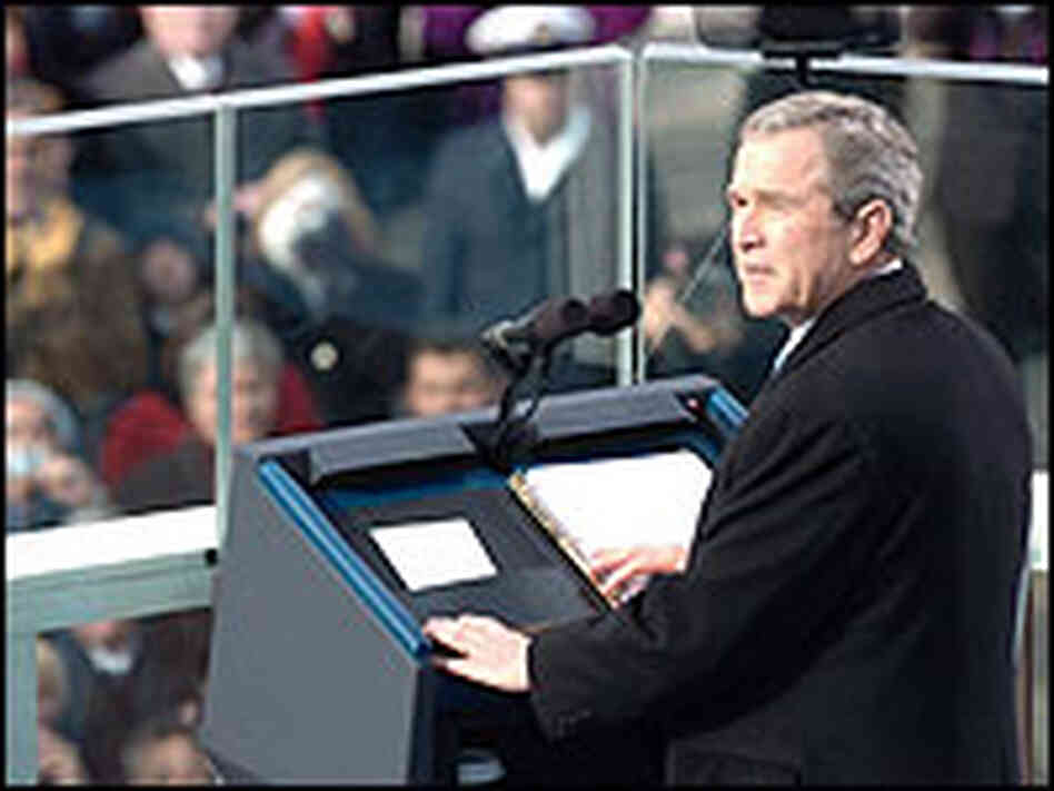 President Bush delivers his inauguration speech