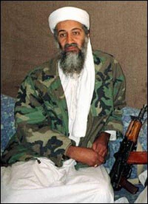 Osama bin Laden in a Nov. 10, 2001, photo.