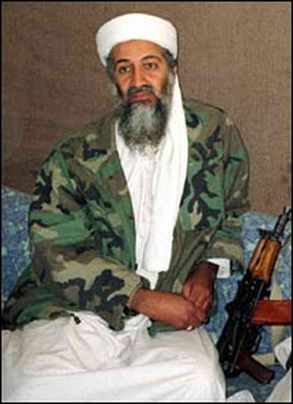 Osama bin Laden in a Nov. 10, 2001, photo.