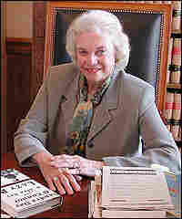 Justice Sandra Day O'Connor in her office, 2003. Credit: Susan Stamberg, NPR.
