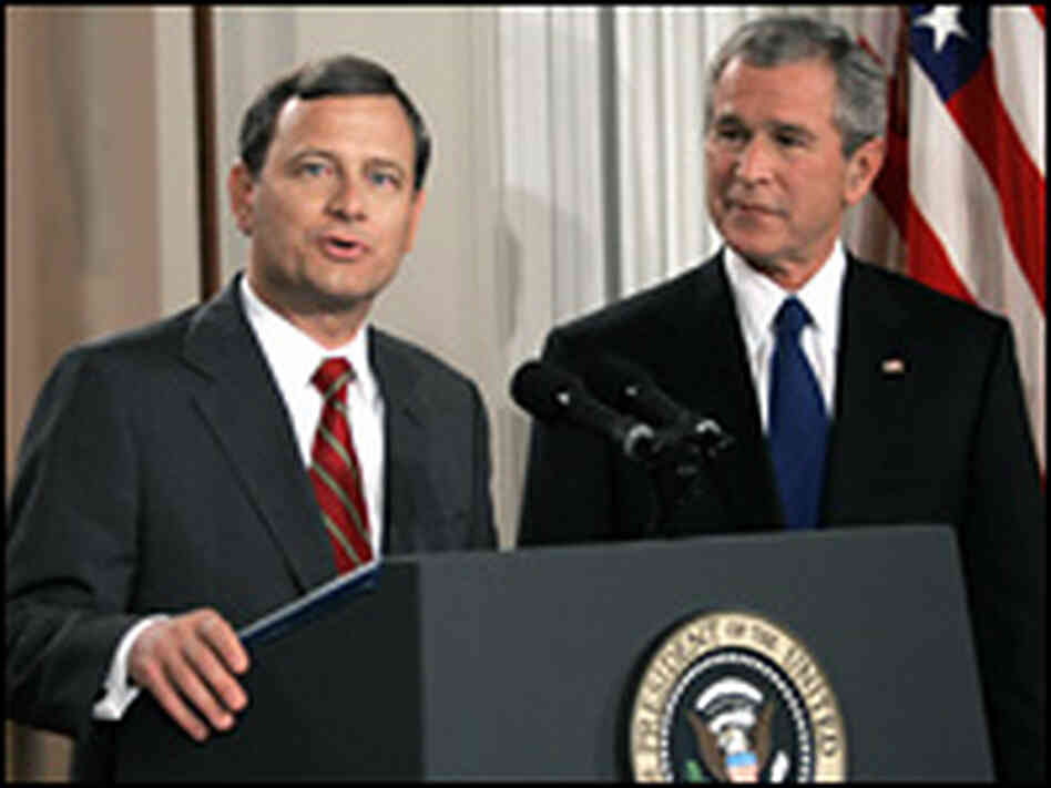 Federal appeals court judge John Roberts joins the president in a televised address to the nation.