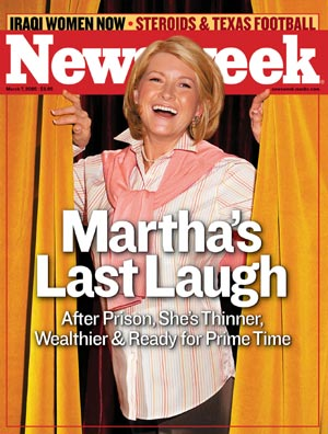 Newsweek Photo Illustration Of Martha Stewart Stirs