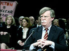 John Bolton during an April confirmation hearing