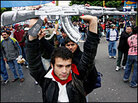 Demonstrators in Mar del Plata, Argentina, protest President Bush at the summit