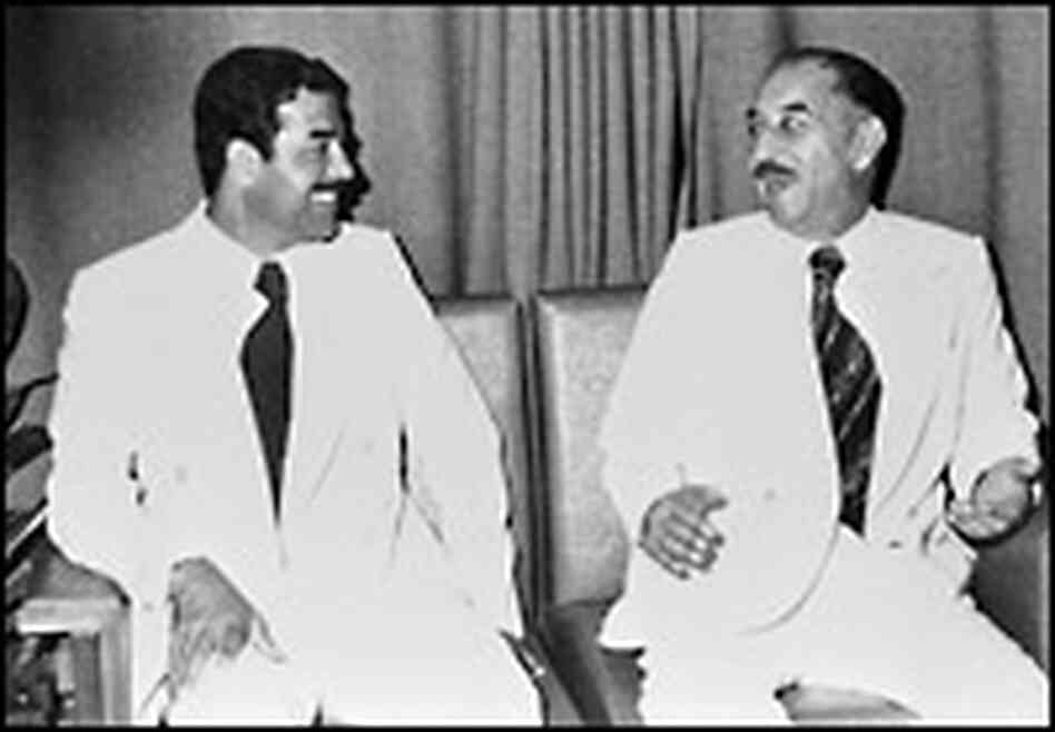 Saddam and Iraq's leader in 1978, Ahmad Hasan al-Bakr. Credit: Corbis