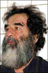 A photo of Saddam Hussein after his capture in December 2003.  Credit: Corbis.