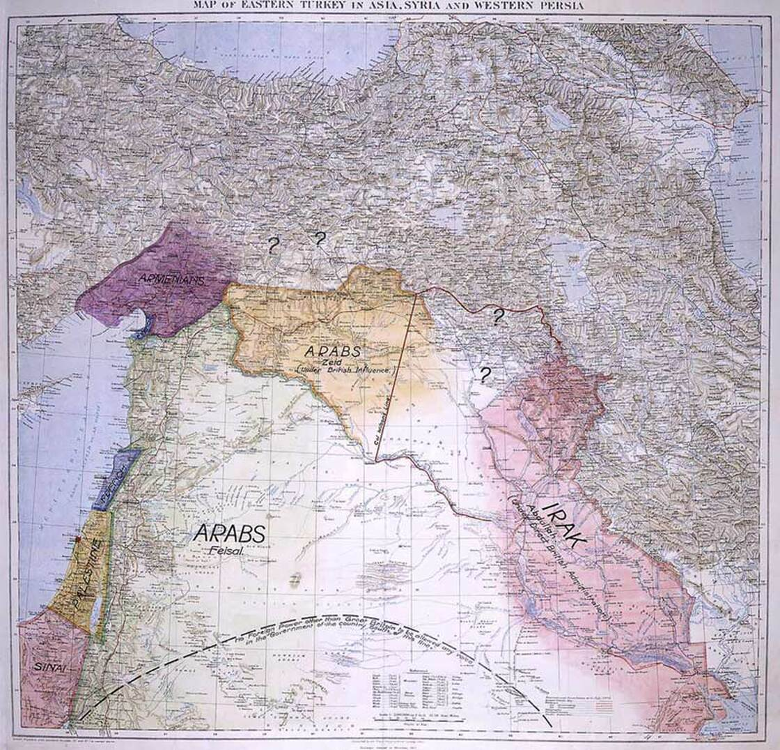 T.E. Lawrence's Middle East map