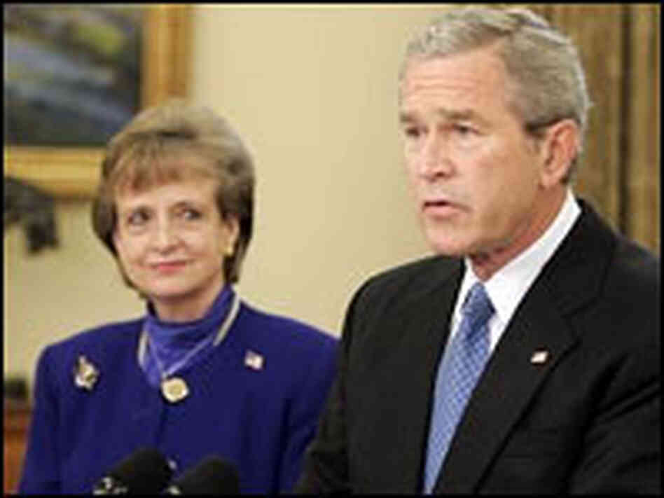 President Bush and Harriet Miers