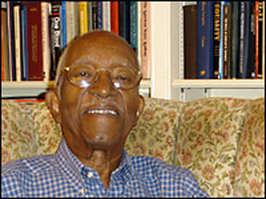 Historian John Hope Franklin lives in Durham, N.C. Credit: Tina Tennessen, NPR.