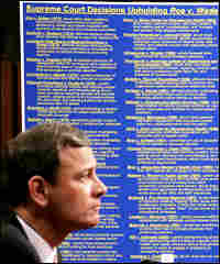 Chief justice nominee John Roberts answers questions about abortion rights from Sen. Specter.