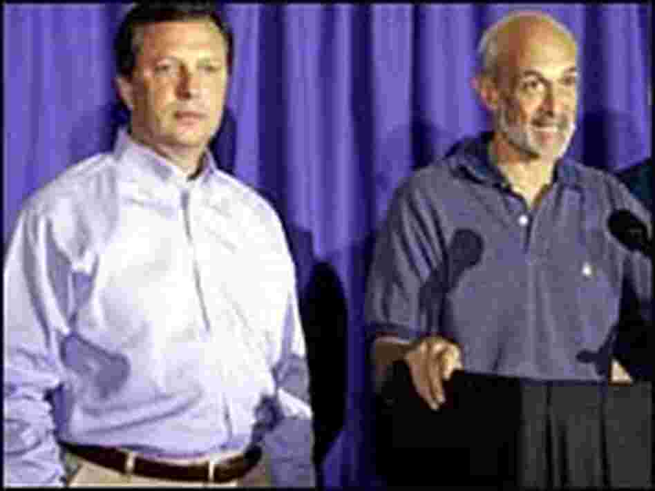 Homeland Security Secretary Michael Chertoff and Michael Brown