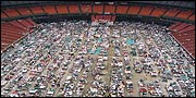 Refugees at Houston's Astrodome.