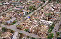 Trailer park destroyed by Hurricane Andrew. Credit: Corbis.