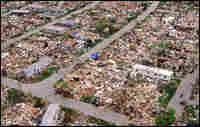 Trailer park destroyed by Hurricane Andrew. Credit: Corbis.