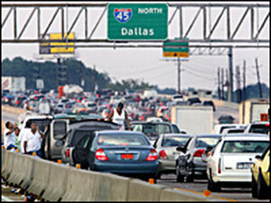 Traffic Leaving Houston