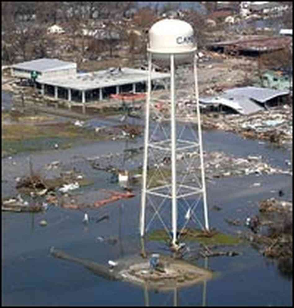 cameron parish hit hard by hurricane rita   npr