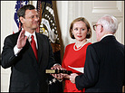 John Roberts is sworn in as chief justice at the White House
