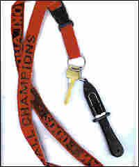 A knife attached to a lanyard was submitted as evidence in the trial of Zacarias Moussaoui.