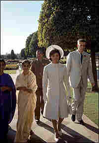 Galbraith with Jacqueline Kennedy on her 1962 tour of India.