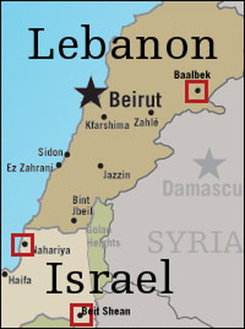 Hezbollah rockets made their deepest-penetration yet into Israel, as Israeli forces expanded the ground war in Lebanon. Enlarge the image for more information.
