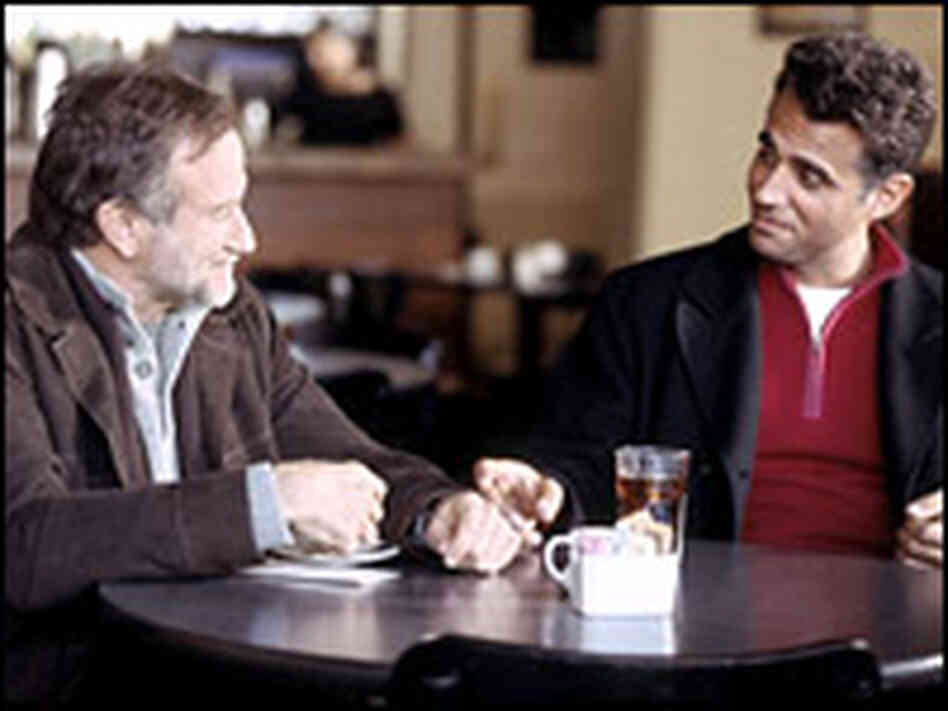 Robin Williams, left, with Bobby Cannavale in The Night Listener