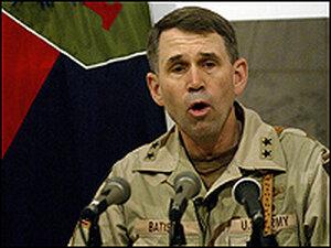 Maj. Gen. John Batiste on duty in Tikrit, Iraq, in 2004.