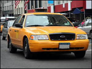 A New York City taxi.