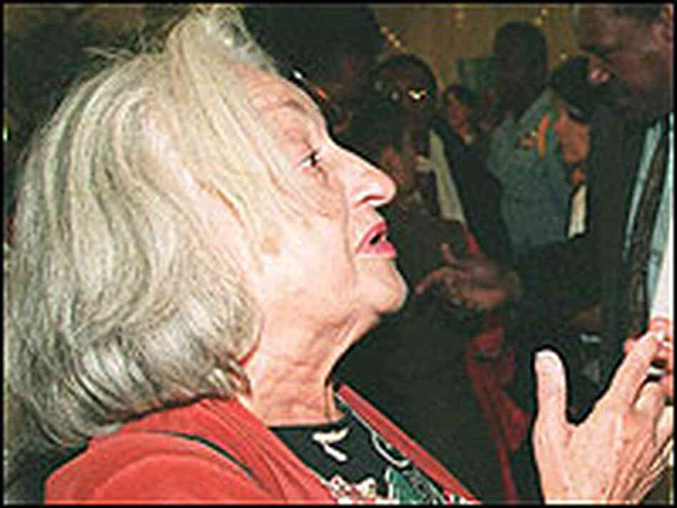 Betty Friedan at the UN World Conference on Women, held in Beijing in 1995.