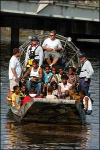 New Orleans Residents Are Evacuated From Their Homes By A FEMA Search And Rescue Team Aug 31 2005 Photo Jocelyn Augustino Hide Caption
