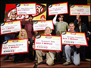 The eight winners of the recent $365 million Powerball Jackpot