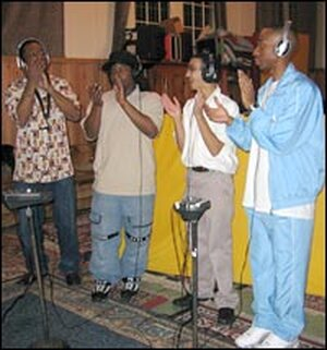 Donald Harrison, Michael Randolph, Conun Pappas and Jamal Batiste add a clapping track