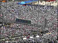 A sea of Muslim pilgrims in Saudi Arabia's valley of Mina